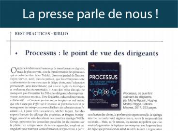 Best Practices parle de l'ouvrage «Processus : ce que font vraiment les dirigeants»