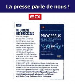 EDI Mag parle du livre « Processus : ce que font vraiment les dirigeants »
