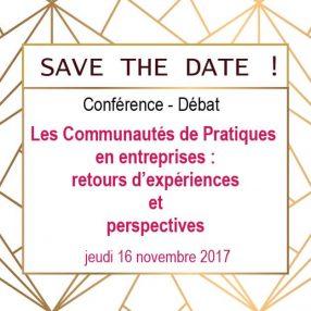 Save the date ! Conférence sur les Communautés de Pratiques